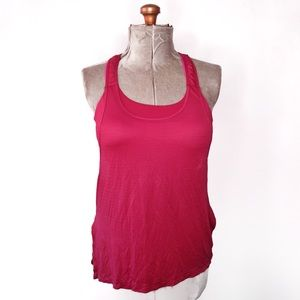 Lululemon Red & Pink Tank Top With Built In Bra 10